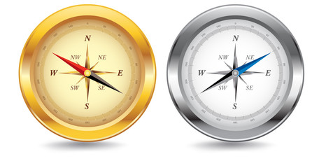 Gold and Silver Compasses