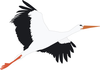 Fliegender Storch Outline