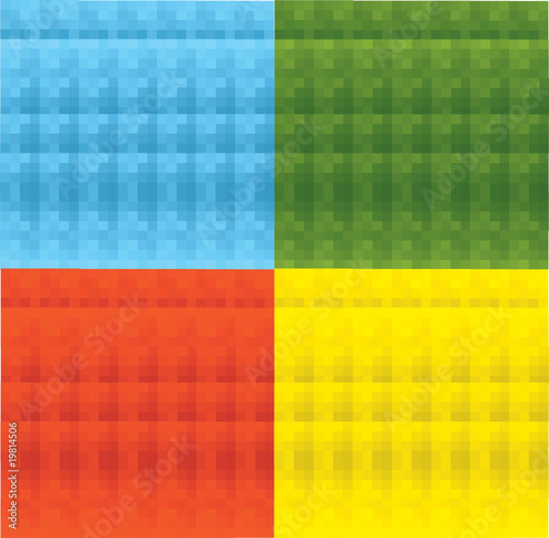Mosaic vector background set of four color