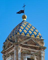 Close-up belltower of St. Benedetto convent. Conversano. Apulia.