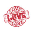 Love grunge rubber stamp