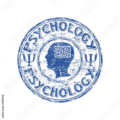 Psychology rubber stamp