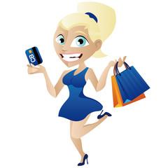 femme carte bleu