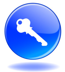 """Bouton web rond """"SECURITE"""" (sécurité clef clé sécurisé)"""