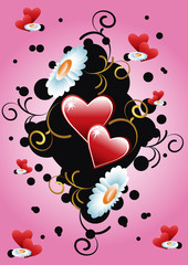 floral background heart