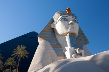 Sphinx statue at the Luxor Hotel and Casino in Las Vegas