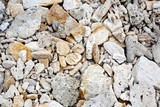 beautiful structured stones at the beach in harmonic way poster