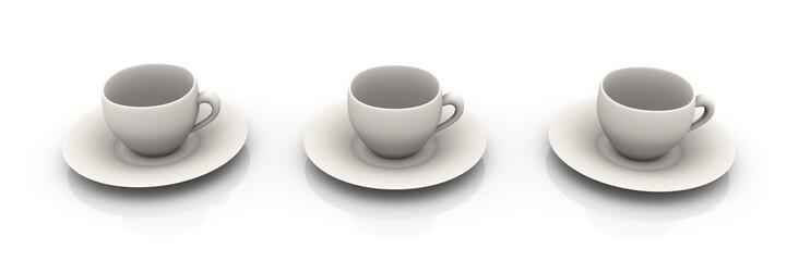 Weiße Tassen