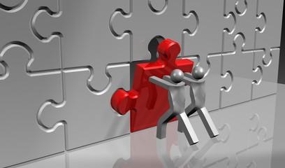 puzzle-teil setzen