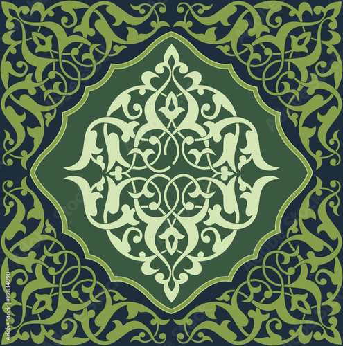 Arabesque Tile Green 2