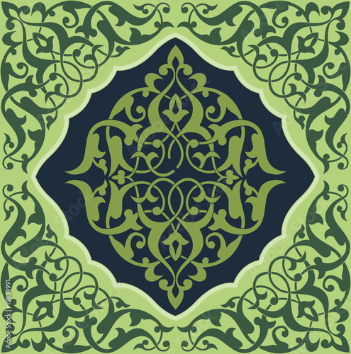 Arabesque Tile Green1
