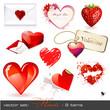 vector set: hearts - 9 Valentine's icons