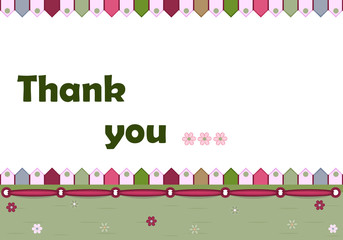 Thank you card - vector illustration, EPS AI8