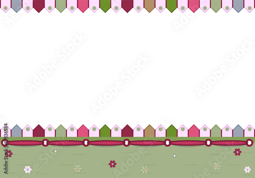 Blank greeting card - vector illustration, EPS AI8