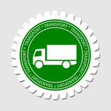 Truck Sign Transport Label