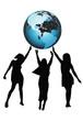 Girles and globe