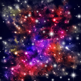 Cosmic Space with lots of Stars poster