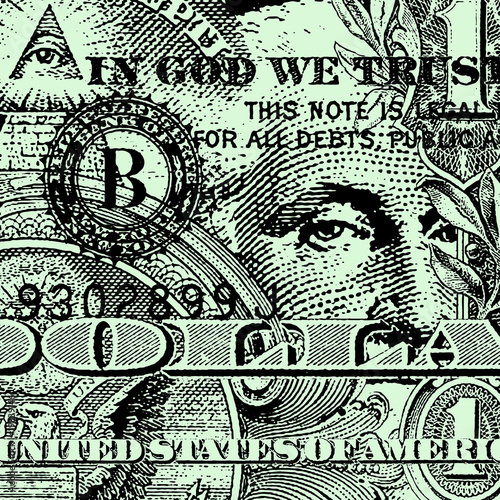 A Dollar Bill Background Design
