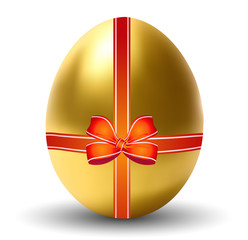 Golden Easter Egg with Bow