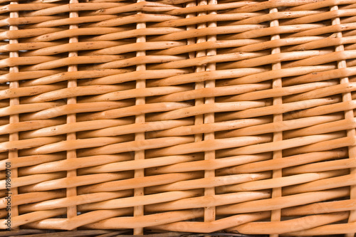 close up of wicker basket as  background