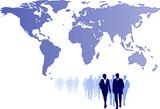 global-trading-partnership-illustration poster