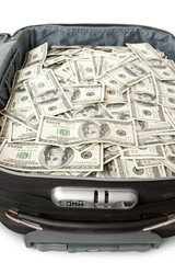 many of money in a suitcase