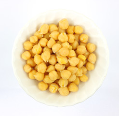 Garbanzo beans in bowl