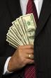 Manager of dollar bills