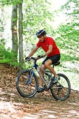 Senior with Mountain Bike Bicycle