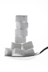 Many pieces of sugar for a sweet