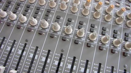 Professional audio mixing board recording studio