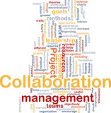 Collaboration management background concept poster