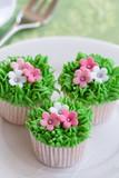 Flower garden cakes