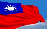 Taiwanese Flag waving on wind.