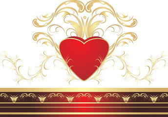 Heart and gothic ornament. Vector