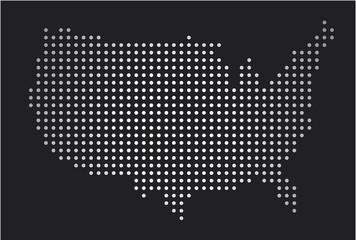 usa map pop art