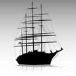 Sea sailing silhouette vecto