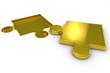 Puzzle aus gold