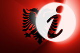 Flag of Albania,  information poster