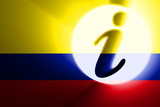 Flag of Colombia information poster