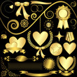Set golden design elements  (vector)