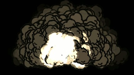 Nuclear Blast.VFX element created