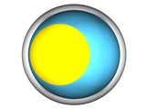 National Flag of Palau | Button Style | poster