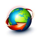 Concept planète terre - Orientation Europe