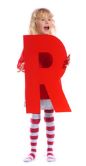 "Letter ""R"" girl - See all letters in my Portfolio"