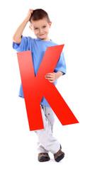 "Letter ""K"" boy"