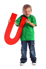 "Letter ""U"" boy - See all letters in my Portfolio"
