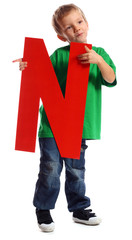 "Letter ""N"" boy - See all letters in my Portfolio"