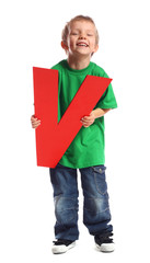 "Letter ""V"" boy - See all letters in my Portfolio"