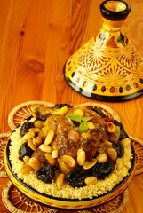 Moroccan chicken with plums and almonds